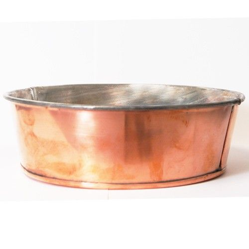 Eastman Dog Bowl by Jacob Bromwell, Inc Looking to share our copper products with your best friend? Our copper dog bowl is tin lined and designed especially for your four-legged friend.  Very Limited Supply. $249.99  http://jacobbromwellcookware.blogspot.com/2013/08/how-to-choose-best-cookware.html