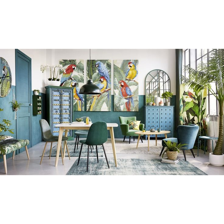tropical print folding screen W 121cm | Maisons du Monde