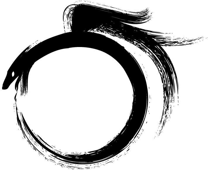 Ouroboros, le mythique symbole de l'entropie et de l'éternel recommencement.