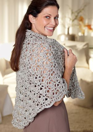 Mother Of The Bride Shawl - Free Crochet Pattern - (lionbrand)