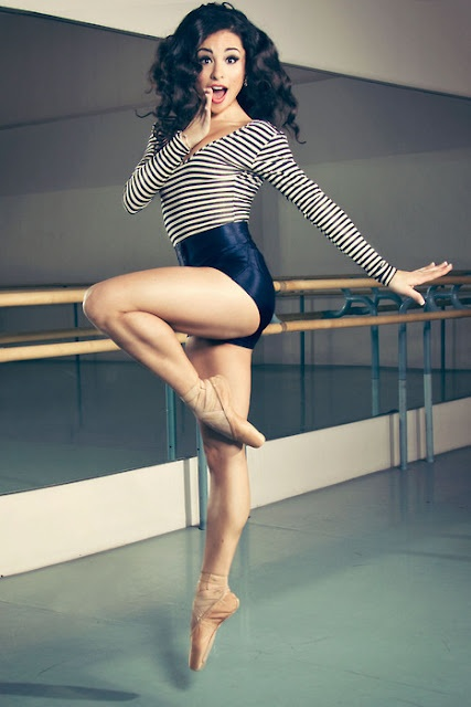 Glam... CUTE dance pose, even if not on pointe