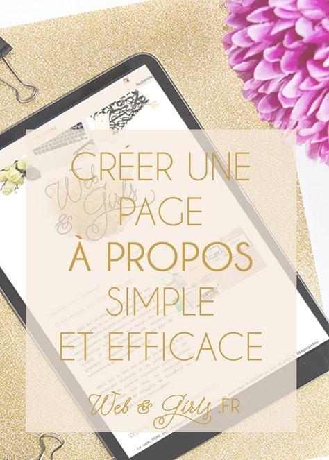 Créer une page à propos simple et efficace pour son blog.