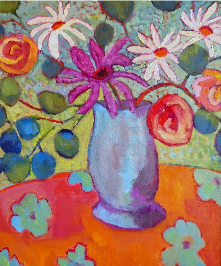 Expressive Flower Painting Simple Mixed Media Techniques