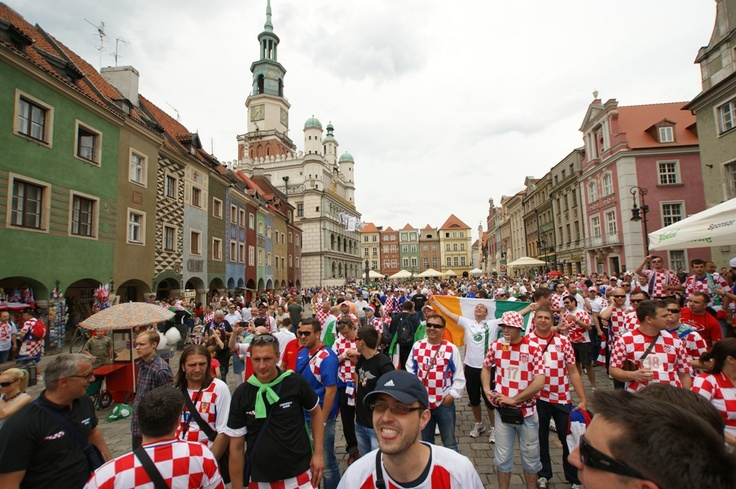Old Market Square in #Poznan - UEFA Euro 2012 w Poznaniu. fot K.Mazur