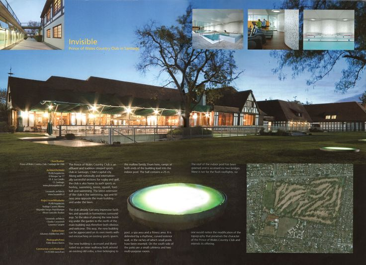 Revista SB / Publicación Prince of Wales Country Club Santiago CHILE / PLAN Arquitectos