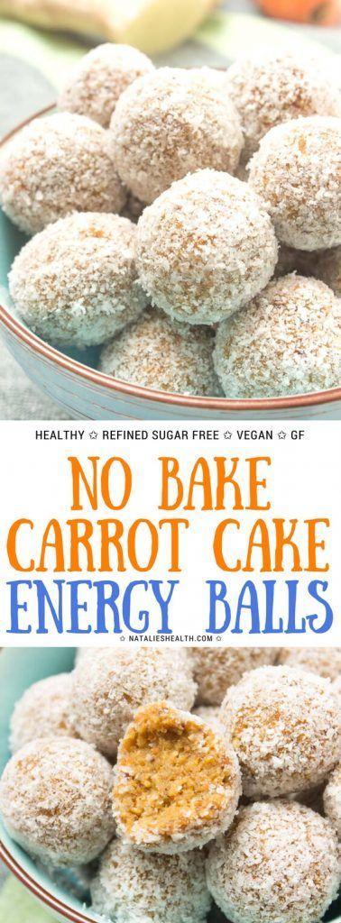 Diese Karottenkuchen-Häppchen sind der perfekte GESUNDE Sommersnack! Sie sind weich und …