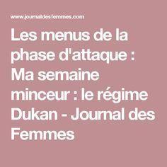 Les menus de la phase d'attaque : Ma semaine minceur : le régime Dukan - Journal des Femmes