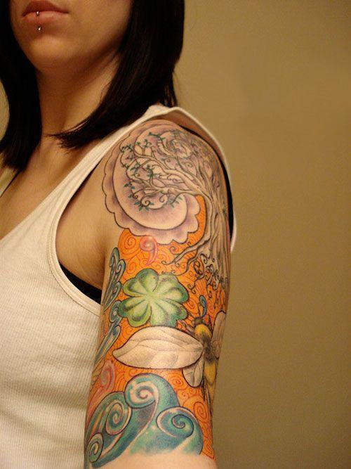 Fahrani-and-Her-Sleeve-Tattoo-Sugar-Half-Sleeve-Tattoos-Women-randomkit.jpg (500×667)