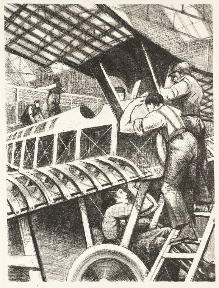 Christopher Richard Wynne Nevinson, 'Assembling Parts' 1917