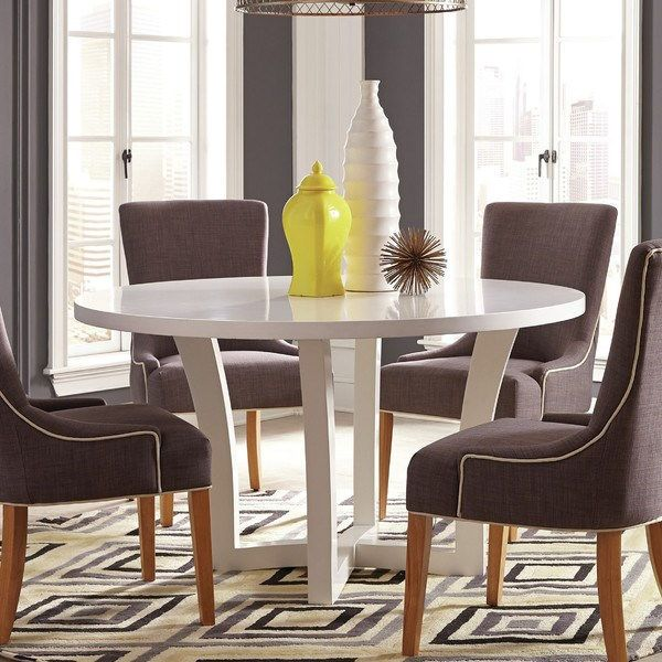 Donny Osmond Home 180231 Caprice Round Dining Table In White