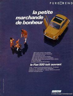 Une publicité pour la Fiat 500 datant de 1970
