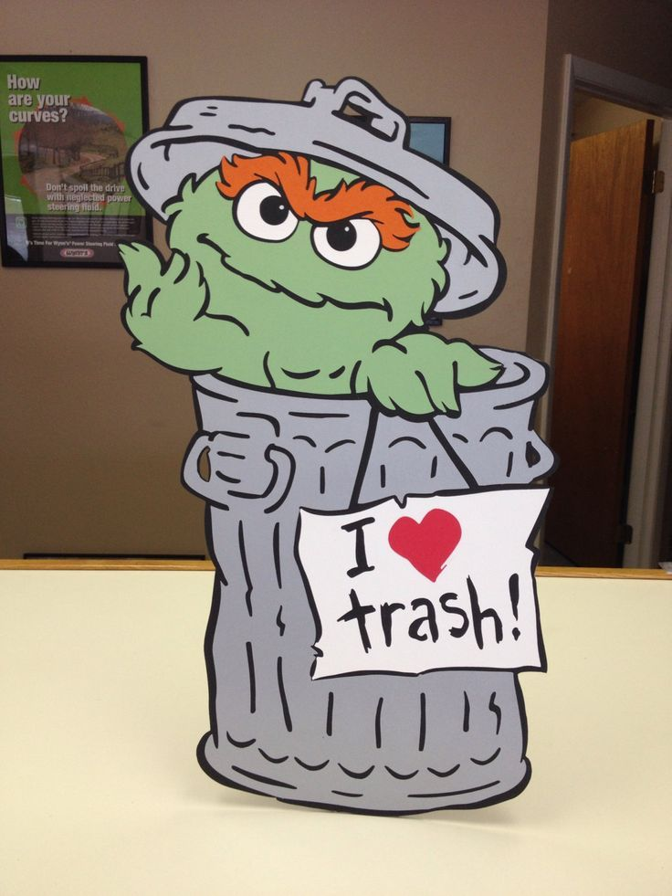 oscar the grouch garbage can decoration - Google Search