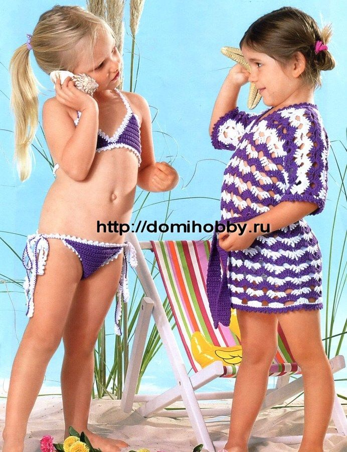 Tunic and bikini for girls (pattern). O-M-G! Look at that child's bathing suit!