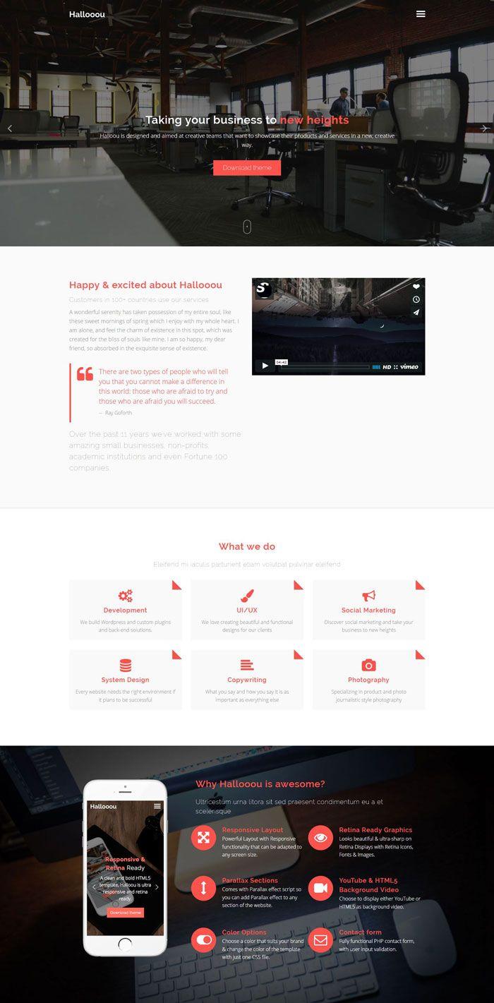 website development template