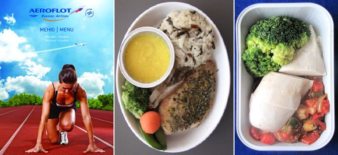 Aeroflot teams up with nutrition experts to develop in-flight 'sports menu' for the 2012 London Olympics