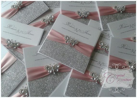 Handmade Luxury Wedding Invitation The por CrystalCoutureInvite
