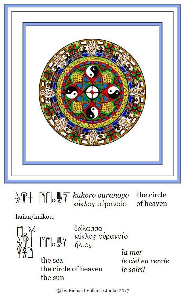 Mandala the circle of heaven Mycenaean haku the sea the circle of heaven the sun