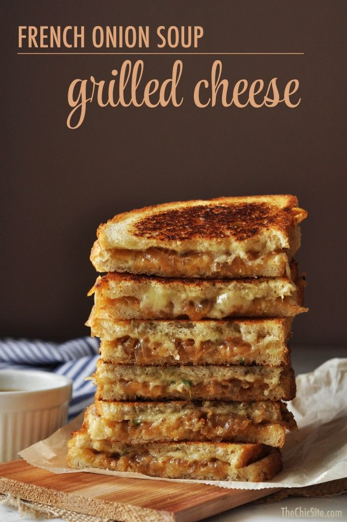 French Onion Soup Grilled Cheese ~ I love french onion soup and I love grilled cheese. This has all those wonderful flavors combined! The recipe uses Sautéed Onions, Gruyere Cheese and Beef Stock. It makes a great snack, lunch or dinner and I'm sure you'll love it!