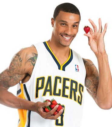 George Hill - Indiana Pacers, Strawberries  www.findyourfavorite.com