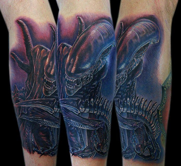 Crazy Alien Tattoo