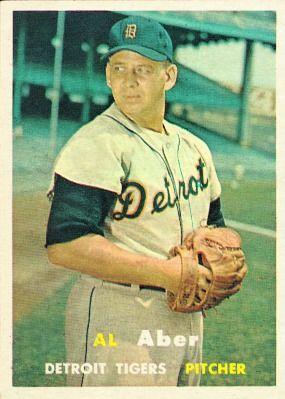 Al Aber 1957 Pitcher - Detroit Tigers  Card Number: 141