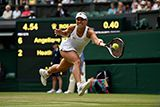 Angelique Kerber chases down a forehand