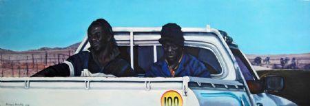 """100 kilometers per hour, Oil on Canvas, W: 1530mm x H: 500mm x D: 40mm, W: 60"""" x H: 20"""" x D: 2"""""""