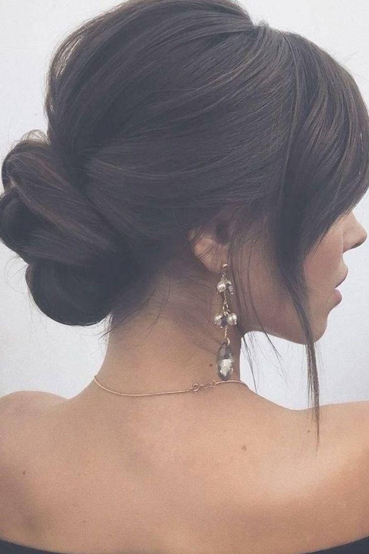 wedding hairstyles 2019 elegant low bun lenabogucharskaya #PromHairstyles #Bun #Elegant #Hairstyle #hairstyles