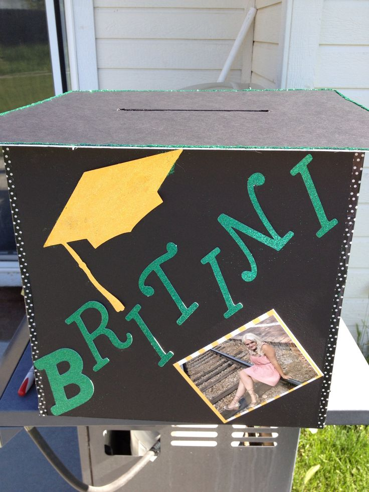 Diy graduation card box graduation card boxes