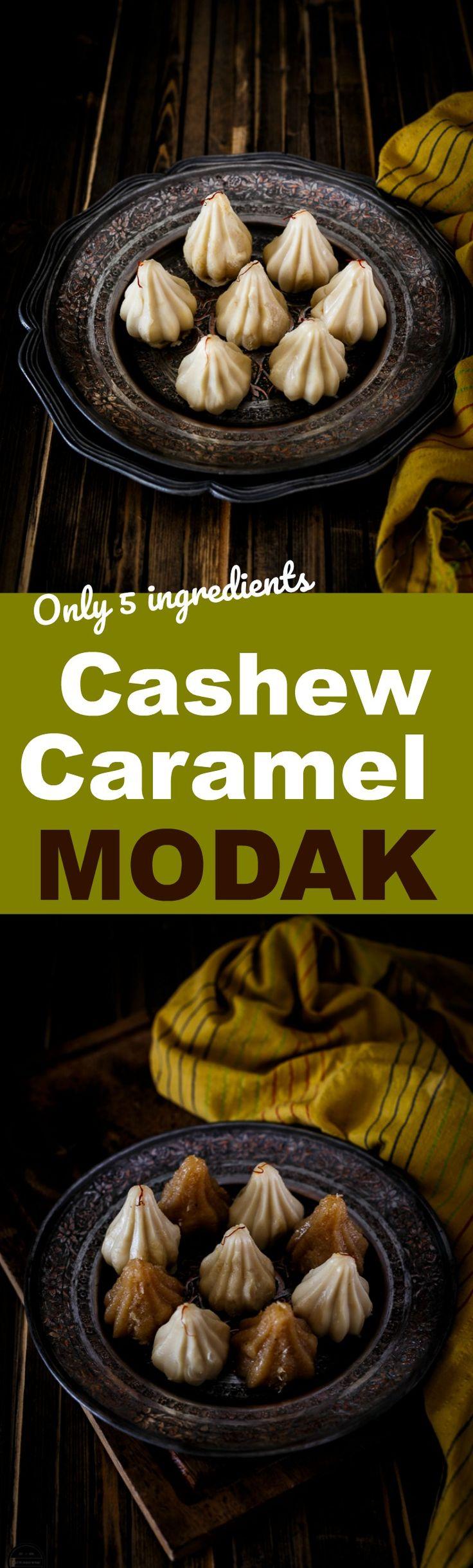 Cashew Caramel Modak-Indian Festival Recipe