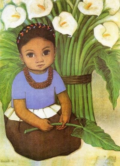 Niña con alcatraces, 1941 - Diego Rivera                                                                                                                                                                                 More