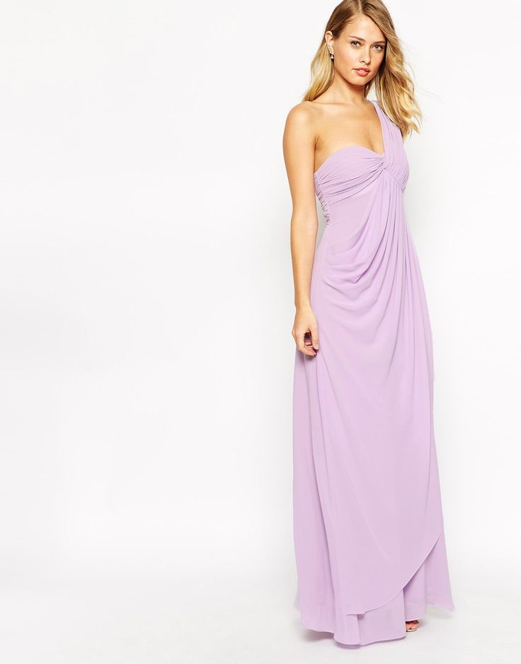 Jarlo Claudia Drape One Shoulder Maxi Dress