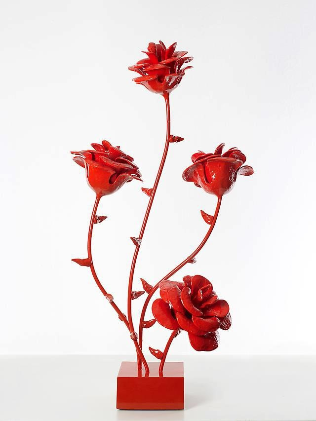 61st Street Rose Maquette (red), 2012 by Will Ryman
