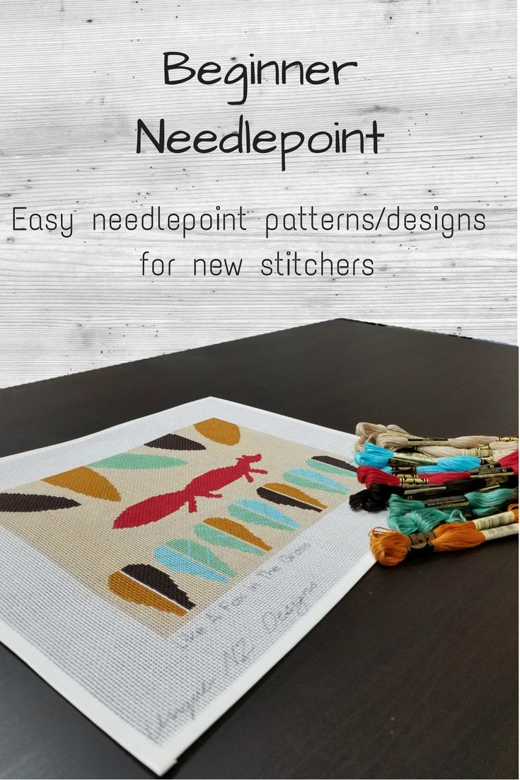Learn how to needlepoint the easy way with a fun needlepoint kit.