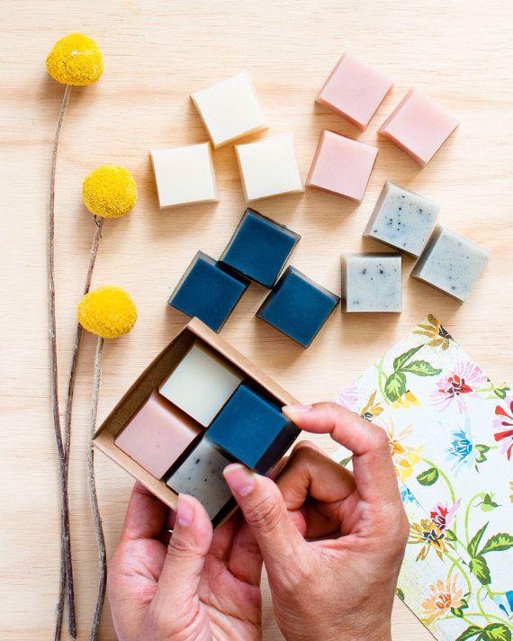 Soap Sample Set 4 mini soaps gift set by seventhtreesoaps on Etsy