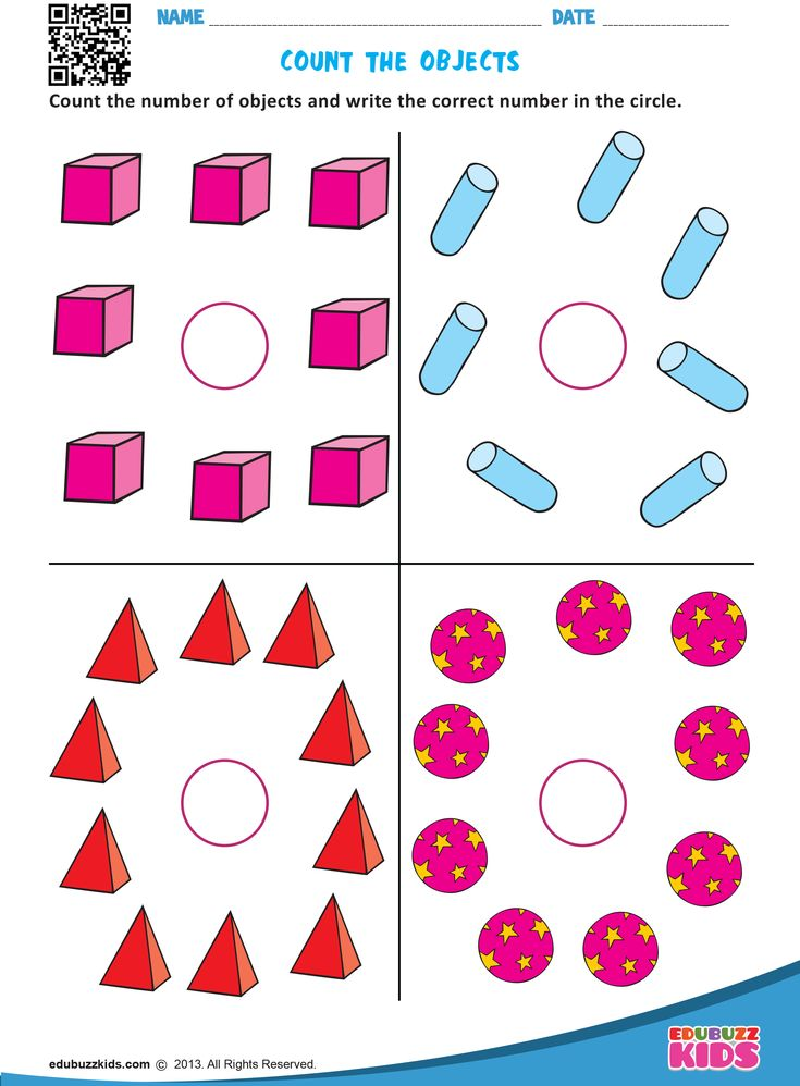 Kindergarten Math Counting Objects Worksheets That Allow