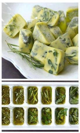 Preserving herbs in a most yummy way.
