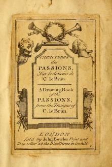 Caracteres des passions, sur le desseins de C. ...