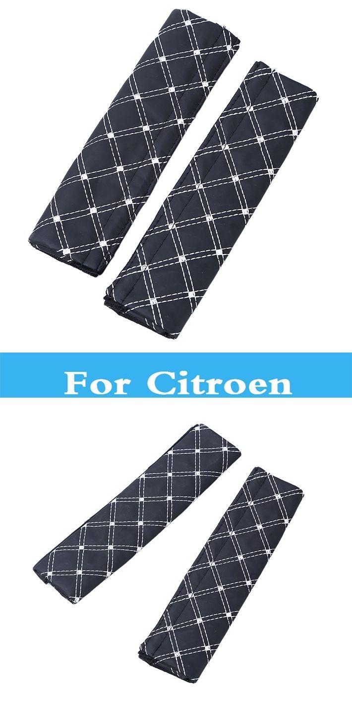 2Pcs Car Safety Seat Belt Strap Shoulder Cushion Harness Pad For Citroen DS3 DS4 DS5 Xsara C-Crosser C-Elysee C-ZERO