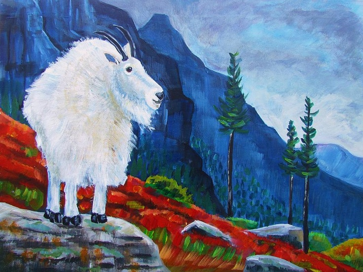 Mountain Goat Country Canvas Print / Canvas Art by Harriet ...
