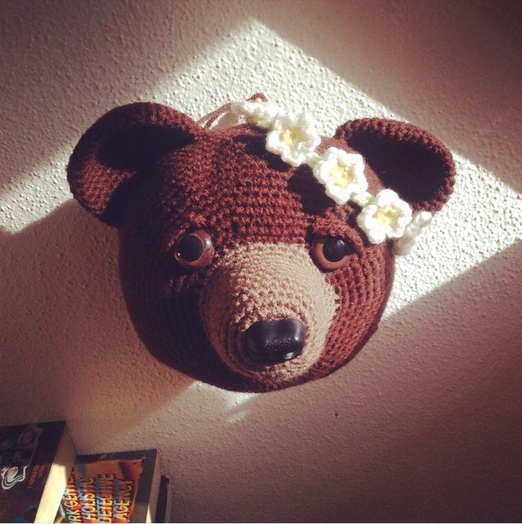 Free Bear head taxidermy pattern                                                                                                                                                                                 More