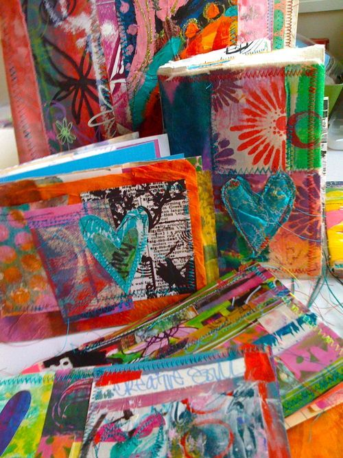 use muslin to pick up paint and inks instead of paper towels or paper. the use as covers 4 art journals