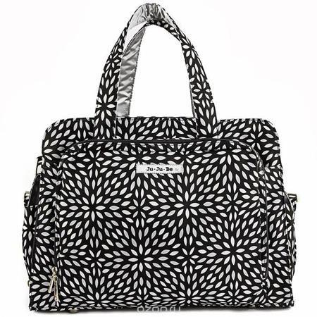 """Ju-Ju-Be Дорожная сумка для мамы Platinum Petals цвет черный серебристый  — 10447.5р.  Дорожная сумка для мамы Ju-Ju-Be """"Be Prepared"""" - оптимальный вариант для мам, которые совмещают практичность, красоту, стиль и комфорт. Она может быть использована как обычная сумка к коляске для двойни или как дорожная сумка для мамы. Основные характеристики сумки для мамы Ju-Ju-Be """"Be Prepared"""": Она выполнена из мягкого прочного материала с тефлоновым покрытием; Сумка имеет одно вместительное отделение и…"""