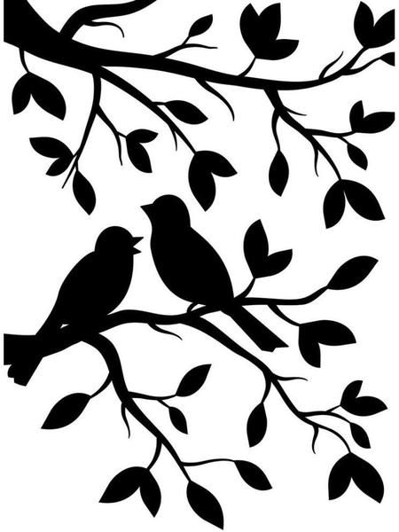 Darice Embossing Folder - Birds Branch