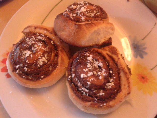 Home made Nutella cinnamon rolls