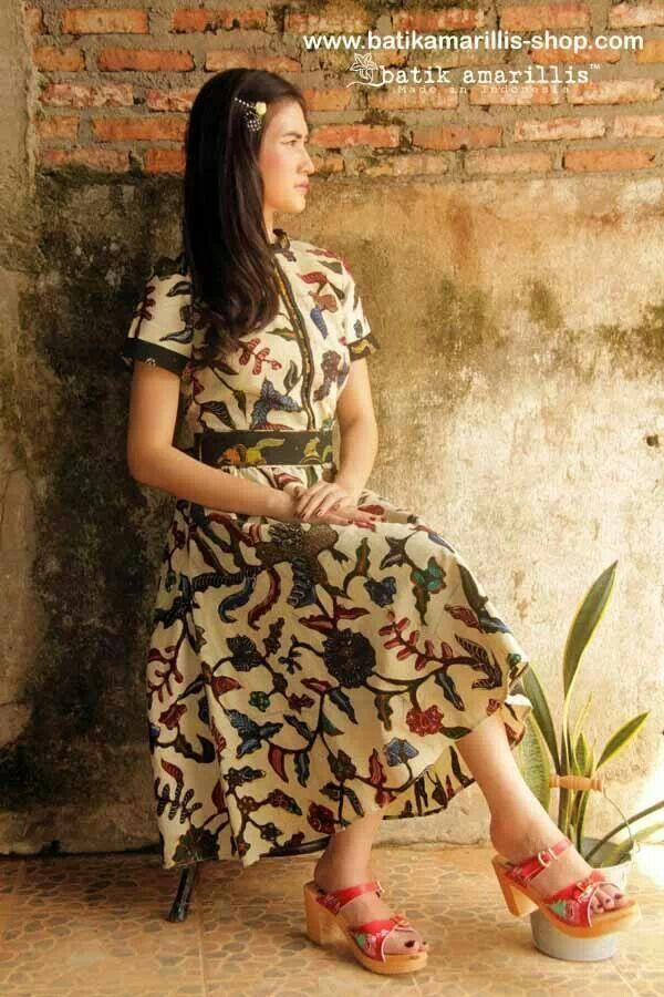 Batik amarillis dress batik tegalan