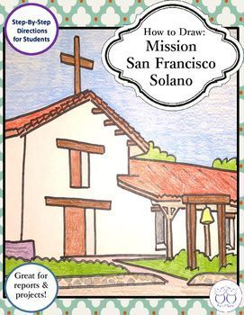 Think you can't draw? With these easy step-by-step directions anyone can draw a mission!  I love teaching about the missions and including art! I use a lot of directed drawing in my class. It's easy! With these step by step directions anyone can draw Mission San Francisco Solano.