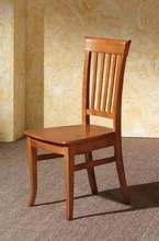 Silla de comedor M-99, de madera de pino maciza con asiento de madera o tapizado