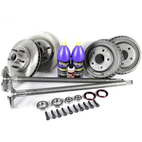 Swap out your 4 lug setup for this 1987-1993 Fox Body Mustang 5-lug, 28 spline axle conversion kit.