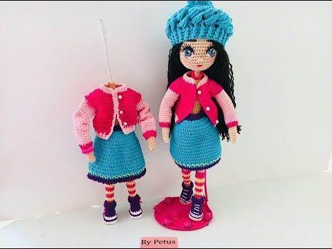 Como tejer falda muñeca Livia amigurumis By Petus QUINTA PARTE - YouTube